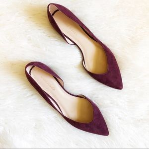 New Marc Fisher Amra Suede D'orsay Flats